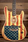 Fender Limited Edition American Acoustasonic Stratocaster Electric Guitar, American Flag