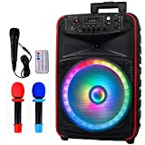 AVAH Karaoke Machine for Adults & Kids Portable Pa Speaker System with 3...
