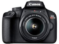 Câmera digital eos rebel t100 18-55mm f/3. 5-5. 6 is iii br, canon, preto