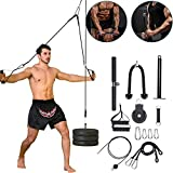 PELLOR LAT and Lift Pulley Cable System Men Women Professional Home Fitness Equipment Forearm Wrist Roller Trainer for Exercise Upper Body Pull-Downs Machine with Upgraded Loading Pin (12 Packs)