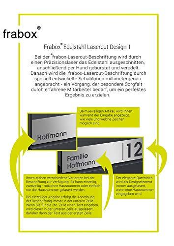 Frabox® Standbriefkasten NAMUR anthrazitgrau RAL 7016 / Edelstahl mit Hausnummer & Namen - 6