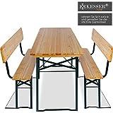 Bierzeltgarnitur mit lehne & breiter Tisch 3 teilig Gartenmöbel-Set - 2