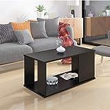 Klaxon Lupine Engineered Wood Coffee Table/Centre Table, Tea Table (Black)