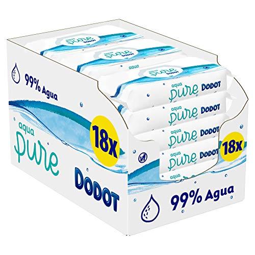 Dodot Toallitas Aqua Pure para Bebé, 99% Agua, 864 Toallita