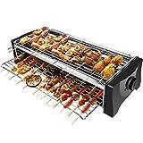 BBQ Electrique Barbecue Electrique de Table, Grill Electrique Sans Fumée,...