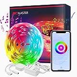 LED Strip Lights, BCMASTER Smart LED WiFi Strip Light Music Sync, Color Changing RGBW Lights 16.4ft...