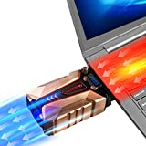 Allnice Gaming Laptop Cooler with Vacuum Fan High Performance USB Laptop Cooler Wind Speed Control Temperature Display Rapid Cooling, Reusable Tape Notebook Cooling Fan