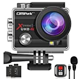 【2020 Upgrade】Campark 4K 20MP Action Camera EIS External Microphone Remote Control WiFi...
