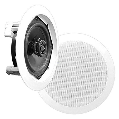 Pyle Home PDIC51RD 150 Watt Wired In-ceiling, In-wall Speaker (White)