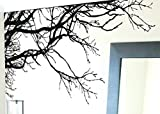 Large Tree Wall Decal Sticker - Semi-Gloss Black Tree Branches, 44in Tall X 100in Wide, Left to Right. Removable, No Paint Needed, Tree Branch Wall Stencil The Easy Way.