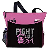 """Fight Like a Girl Boxing Glove Tote Bag""""Dakota"""" in Pink for Breast Cancer (Assorted Colors)"""