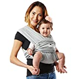 Baby K'tan Original Baby Wrap Carrier, Infant and Child Sling - Simple Wrap Holder for Babywearing - No Rings or Buckles - Carry Newborn up to 35 lbs, Heather Grey, Women 6-8 (Small), Men 37-38