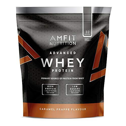 Marque Amazon - Amfit Nutrition Advanced Whey protéine de lactosérum saveur frappé au caramel, 32 portions,  990 g