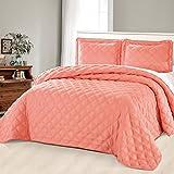 Home Soft Things BNFBDSKDA3CR Bedspread, 118' x 106', Coral