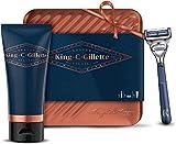 King C. Gillette Kit de Rasage Homme Complet Coffret Cadeau avec Rasoir Pour Le...