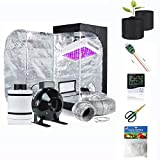 """Supergrower Indoor Grow Tent + 600W LED Full Spectrum Grow Light Complete Kits for Indoor Plants 4 Inch Fan and Filter Ventilation System Inlcuded (4' Fan Filter+600W LED Light+Grow Tent 32' X32""""X60)"""