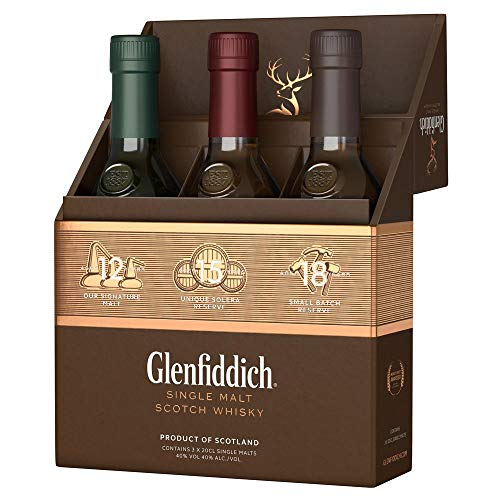 Glenfiddich Single Malt Scotch Whisky Collection Mix Pack (3 x 0,2 l) - 12 Jahre, 15 Jahre und 18...