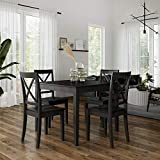 Dorel Living Sunnybrook 5-Piece Dining Set, Black