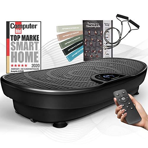 Sportstech Messeneuheit! Vibrationsplatte VP250 im edlen Curved Slim Design   Fettverbrennung & Muskelaufbau  ...