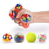 Fansteck 4 Pack Balle Anti-Stress différente, Squishy Ball / Balle de...
