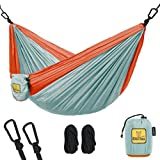 Wise Owl Outfitters Kids Hammock for Camping The Owlet Kid Child Toddler or Gear Sling Hammocks - Perfect Small Size for Indoor Outdoor or Backyard - Portable Parachute Nylon  Blue/Org