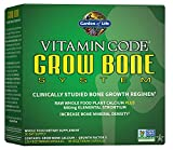 Garden of Life Calcium Supplement - Vitamin Code Grow Bone Made with Whole Foods, Strontium, Magnesium, K2 MK7, Vitamin D3 & C for Bone Strength & Joints, Probiotics for Gut Health, 30 Day Supply