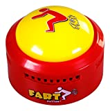 Talkie Toys Products Fart Button - Plays 20 Funny Poop and Fart Sounds - Flashes and Lights Up - Hilarious Prank, Joke, and Gag Toy