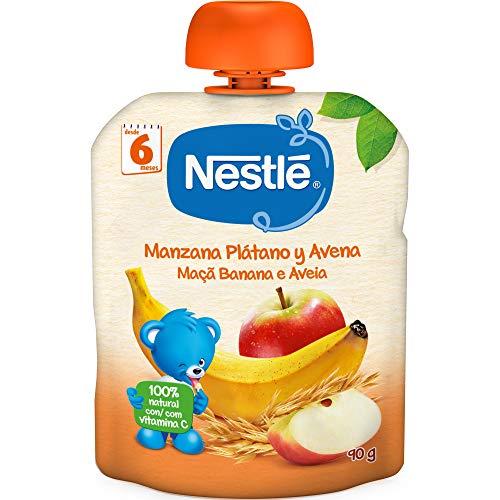 Nestlé Bolsita de puré de frutas y cereales, variedad Manz