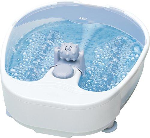 AEG Fuss- Massagegerät FM 5567, 4-Stufen- Schalter, Whirlpool-Effekt, zusätzliche Massagerolle, herausnehmbar, für punktuelle Fußreflexzonenmassage