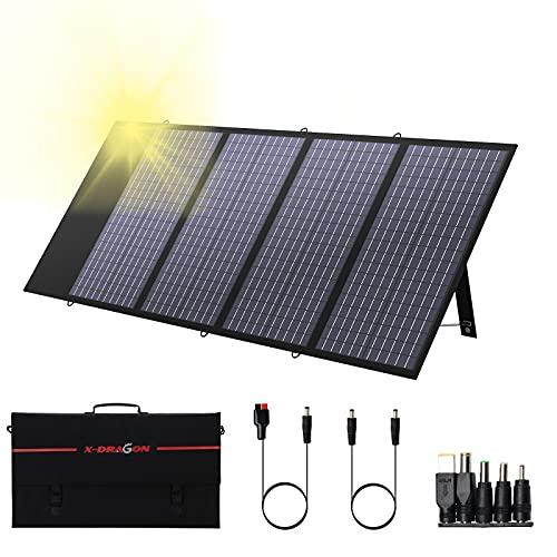 Panneau solaire X-DRAGON pliable 130W - Module solaire pour la plupart des centrales électriques...