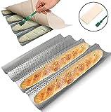 HOTOOLME Baguette Moule à baguette avec revêtement anti-adhésif pour 4...