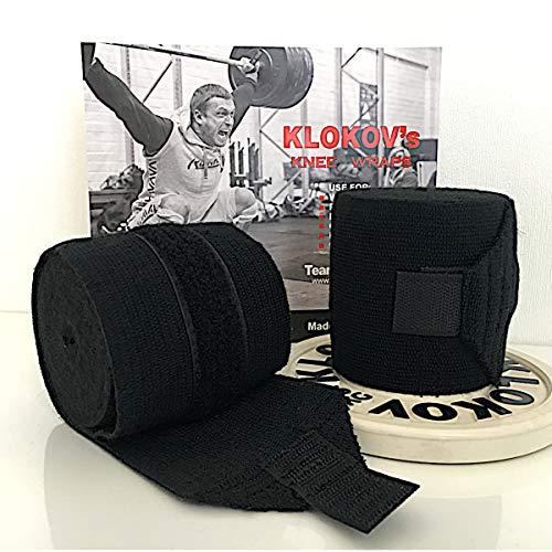 Klokov - Vendas para Rodilla, para Entrenamiento Crossfit, de Fuerza y...