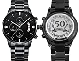 Anniversary Gifts for Husband, 50th Wedding anniversary gifts for husband, Personalized Engrave Watches for Men Gifts for Husband on Anniversary Gifts Ideas