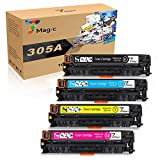 7Magic Remanufactured Toner Cartridge Replacement for HP 305A 305X CE410X CE410A for HP Laserjet Pro 400 Color M451dn M451nw M451dw MFP M475dw MFP M475dn Pro 300 MFP M375nw M351A Printer (4 Pack)