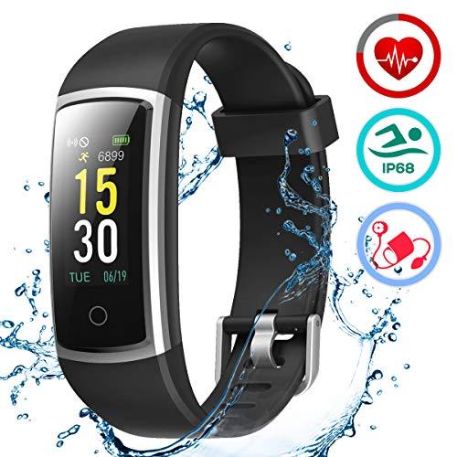 LATEC Orologio Fitness Tracker Smartwatch Android iOS Cardiofrequenzimetro Monitor per la Pressione...