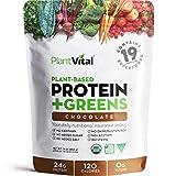 New! Plant Based Chocolate Protein Powder w 19 Superfoods, Veggies & Probiotics. Raw Cocoa, Kale, Beets, Spirulina & More! Vegan, Organic, Non-GMO, Gluten Free.