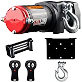 VZCY 3000 LBS 12V Electric Winch, Portable Wire Rope Winch Kit Waterproof Pure Copper Motor with Handheld Wireless Remote Control for ATV UTV Off-Road Trailer Ship Traction Winch