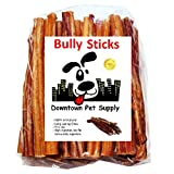 """6"""" BULLY STICKS - Free Range Standard Regular Thick Select 6 inch (10 Pack), by Downtown Pet Supply"""