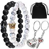 Gejoy Bracelets de Couples Bracelet de Perles Bracelet Longue Distance...