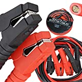 Voilamart Auto Jumper Cables 1 Gauge 1200AMP 20Ft w/Carry Bag, Instruction Slip, Commercial Grade Automotive Booster Cables, Heavy Duty for Car Van Truck