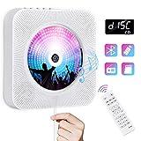 Lecteur de CD Portable Gueray Lecteur CD Montage Bluetooth Mural Haut-Parleur...