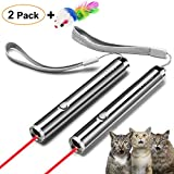 FYNIGO Cat Toys Wand,Interactive Toys for Cats and Dogs,2 in 1 Function,Pet Chaser Toys for Exercise(2 Pack)