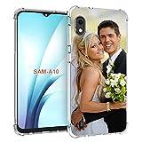 SHUMEI Coque personnalisée pour Samsung Galaxy A10, photo personnalisée absorption des chocs Coque en TPU transparent et souple