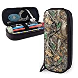 CIUYTJNE Realtree Camo Wallpapers Cute Pen Pencil Case Leather 8 X 3.5 X 1.5 Inch Pouch Bag Pencil Case with Double Zipper Holder Box for School Office Girls Boys Adults