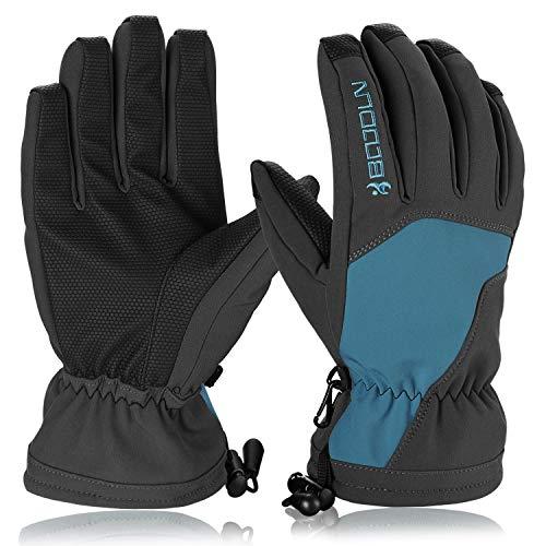 Hicool Skihandschuhe, Ski/Snowboard Handschuhe Schi Handschuhe Winter Sporthandschuhe Outdoor Thermohandschuhe für Skifahren Motorradfahren Radfahren Wandern für Herren und Damen (Dunkelblau, S)