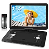 WONNIE 17.9'' Large Portable DVD/CD Player with 6 Hrs 5000mAH Rechargeable Battery, 15.4''...