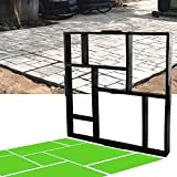 CJGQ 20'x20'x1.8' Plus Size Walk Maker Reusable Concrete Path Maker Molds Stepping Stone Paver Lawn Patio Yard Garden DIY Walkway Pavement Paving Moulds (8-Grid)…