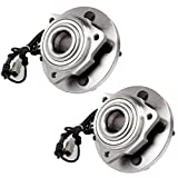 ECCPP Replacement for Pair of 2 New Complete Front Wheel Hub Bearing Assembly 5 Lugs w/ABS fit for Jeep Grand Cherokee Commander 2005 2006 2007 2008 2009 2010 4WD RWD 513234 x2