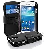 Cadorabo Coque pour Samsung Galaxy S4 Mini en Noir DE Jais - Housse Protection...