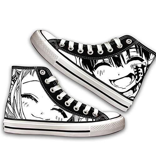 NIEWEI-YI Alpargatas Altas Toilet-Bound Hanako-kun Anime Zapatos De Lona Hombres Mujeres Zapatos Casuales Zapatos De Viaje Al Aire Libre,40 EU